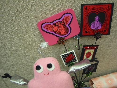 Pink Craftie at the Super Crafty valentine-making party