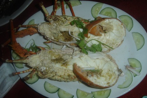 Lobster at Bien Ngoc restaurant