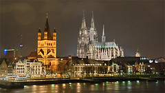 Kln bei Nacht / Cologne at night (colmans_2006) Tags: architecture photoshop handmade cologne kln architektur rhine rhein hdr klnerdom colognecathedral wdr grosstmartin impressedbeauty top20travel