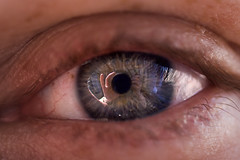 aperture (sgoralnick) Tags: camera selfportrait macro reflection eye me andy lens hands eyeball pupil overlap focusing sgoralnick sigma50mmf28 sigma50mmf28macro andyclymer flickr:user=sgoralnick
