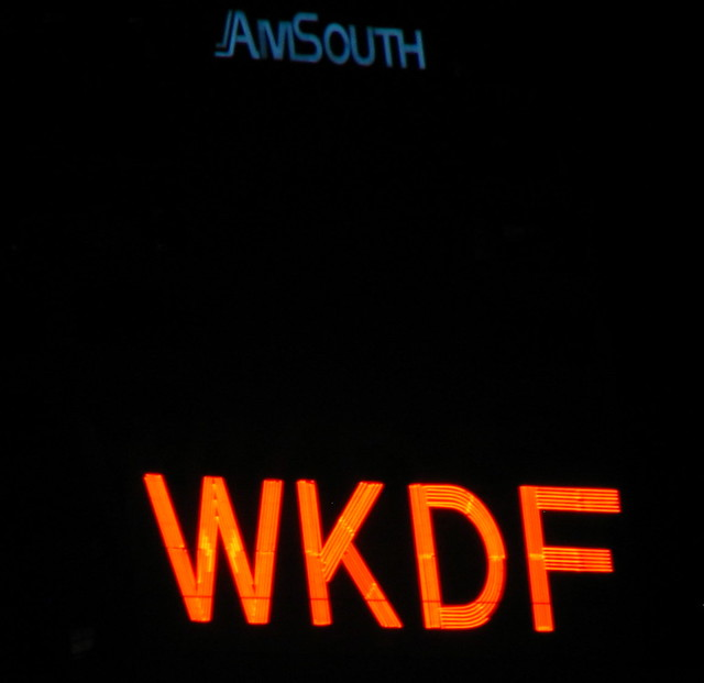 WKDF sign and AmSouth