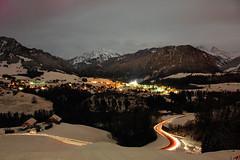 Charmey at night (MXW) Tags: snow mountains night switzerland suisse nuit montagnes charmey swisspeeks2