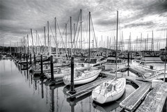 Marina in Sausalito (wili_hybrid) Tags: california trip travel winter vacation bw usa holiday america marina geotagged boats outside outdoors march photo yahoo high nikon flickr exterior unitedstates dynamic photos outdoor picture pic journey american wikipedia imaging d200 sailboats mapping sausalito range geotag tone hdr hdri 2007 photomatix nikond200 tonemapped tonemapping highdynamicrangeimaging year2007