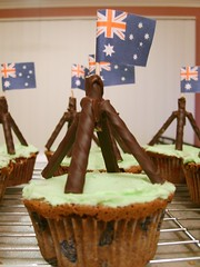 Happy birthday Canberra =) (kukita) Tags: food green cupcakes baking weekend chocolate australia parliament canberra peppermint womensweeklycupcakes