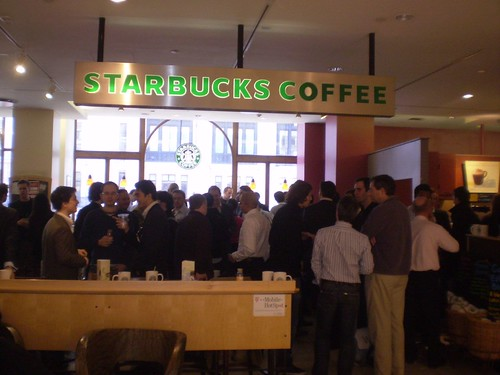 open coffee at starbcuks, london
