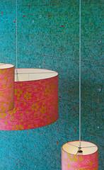 Rios Entry (ken mccown) Tags: pink red tile lights design graphicdesign aqua riosclementihalestudios
