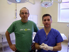 Me and John, my vasectomy surgeon (just another bloke) Tags: pain blood surgery doctors operation operating knackers vasectomy goolies justanotherbloke allmenarewimps