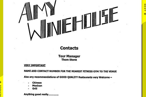 Any Winehouse Tour Rider