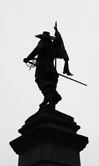 musketeer (serhio) Tags: bw white canada black silhouette paul place quebec montreal sony cybershot sergei dscw1 founder maisonneuve chomedey musketeer darmes yahchybekov serhio