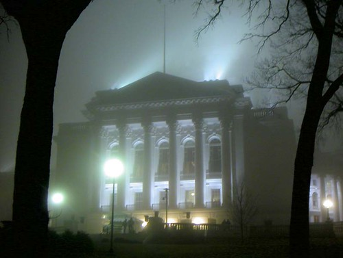 Foggy Night on the Square