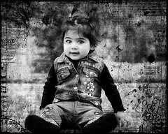 Grunge (mylaphotography) Tags: bw white black girl photoshop edited grunge manipulation rahi childphotography jaber mylaphotography fairytalephotography
