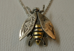 Tara Shelton: Bee Pendant w/Goldleaf