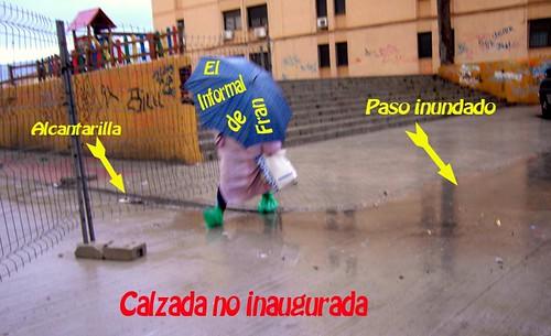 calzada inundada