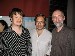 Слева направо: С.Золотницкий (гитара, перкуссия), Эл Ди Меола (акустическая и электро-гитара), Ю.Базавлук (гитара, клавишные)