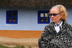 Shades of Blue (romaniashots) Tags: people lady glasses romania blanket bucharest bucuresti villagemuseum romaniashots