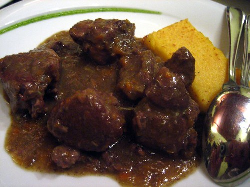 Cinghiale (wild boar) with polenta
