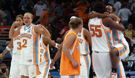 The Lady Vols Celebrate Championship #7