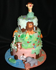 Jungle Cake (kelannfuller) Tags: elephant cake monkey tiger lion sugar novelty crocodile giraffe fondant buttercream gumpaste noveltycake showcake competitioncake sweetdaze