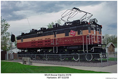 Milwaukee Road E57B (Robert W. Thomson) Tags: montana generalelectric milwaukeeroad electriclocomotive cmstpp chicagomilwaukeestpaulpacific