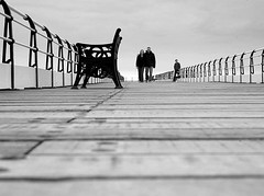 A view from the boardwalk (~Glen B~) Tags: uk england bw pier nikond70 cleveland teesside saltburn instantfave nikon50mm18d satelliteportfolio