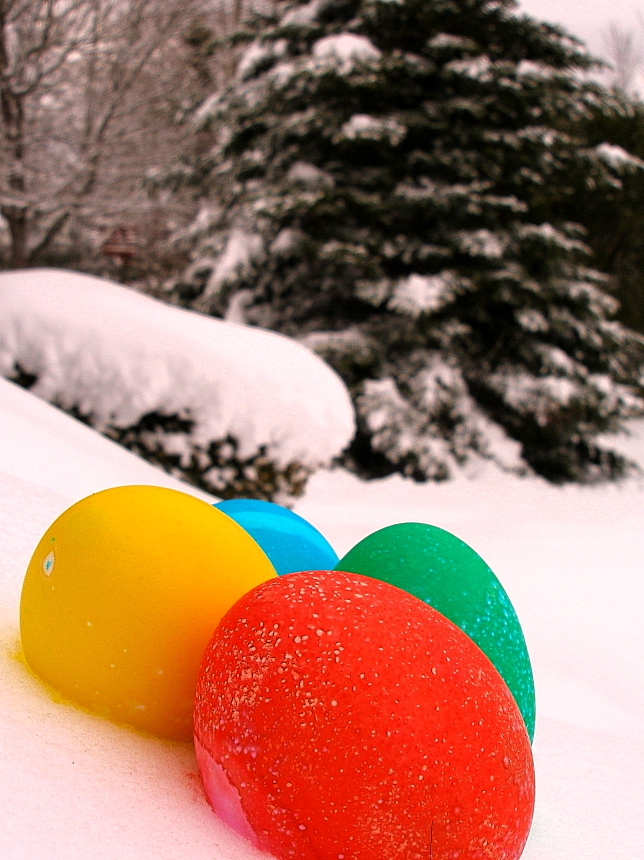 Easter morning snow