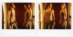 me double diptych (~KIM~) Tags: selfportrait de polaroid doubleexposure double spectra