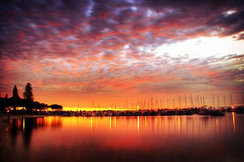Sunrise Over Perth, Austrlia