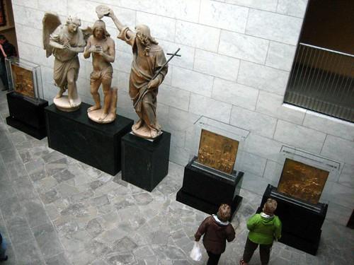 Ghiberti's actual panels, and the original John baptising Jesus