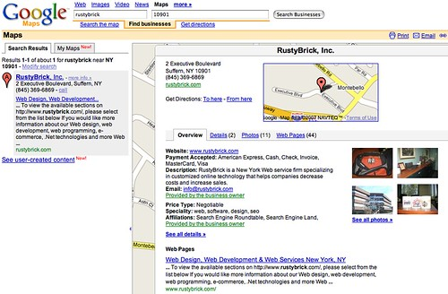Google Local/Maps Updated Results