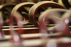 Rows of Iron (deanna515) Tags: bar rust iron flickrchallengegroup ccctd photofaceoffwinner pfogold