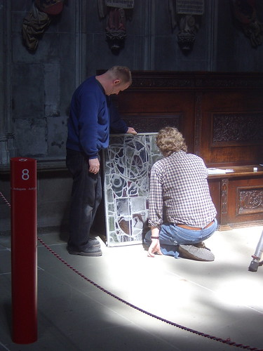 Münster Cathedral - restoring stained glass