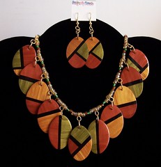 Faux Wood Inlay Necklace (clayangel_sc) Tags: art beauty fashion necklace beads artist handmade originalart ooak ivory jewelry polymerclay fimo clay gift bracelet faux translucent sculpey handcrafted wearableart accessories bracelets earrings marble wearable acessories pendant brooches necklaces fauxwood polymer millefiori foils dichroic gane premo mokume artjewelry hypoallergenic adornments artisanjewelry canework handmadebeads artbeads beadart fauxbois handcraftedbeads pcagoe notpainted polymerclayjewelry oneofakindjewelry fauxjewelry southcarolinaartist jewelryartisan boldjewelry clayangel oneofakindpiece clayangelsc nopaintisinvolved finising