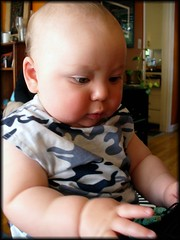 preeecioussss (heatherkh) Tags: morning friends baby sunday fingers gabe brunch gabethebabe