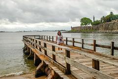 Robin in Old San Juan (Snap Man) Tags: oldsanjuan puertorico robinkanouse sanjuan pier
