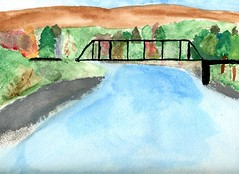 painting with ink American River