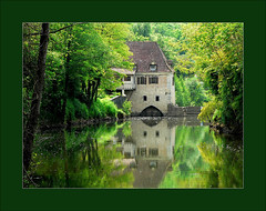 De l'eau au moulin / Water mill (platane31) Tags: france reflection green mill water river moulin lumix fz20 bravo eau lot vert panasonic explore reflet frame cadre saintcirqlapopie themoulinrouge blueribbonwinner supershot magicdonkey encadr flickrsbest abigfave colorphotoaward superaplus aplusphoto 200750plusfaves superbmasterpiece francelandscapes bratanesque leplatane potwkkc36 lprivers