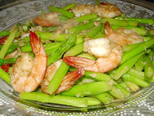 asparagus prawns