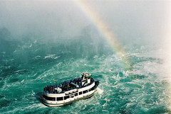 Niagara Falls (James Patterson) Tags: mist canada canon niagarafalls boat interesting rainbow colorful icon canadian falls mostinteresting colourful rainbows maidofthemist iconography 100club canadiana jamespatterson dreamjournal leadingline 50club 50clubxcalidad mostinterestingset cans2s flkwrk