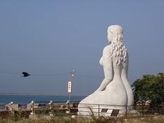 nude mermaid (raj_nair81) Tags: beach statue lady nude kerala mermaid kollam
