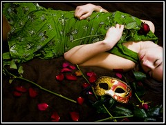 a dream of the theatre (rachel sian) Tags: roses selfportrait me female theatre masks drama rach curtaincall 52weeks