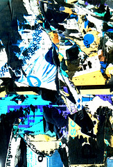 Scratch (Nicote) Tags: blue white abstract black art texture colors yellow paper poster colorful colours purple o ad read colourful typo scratch