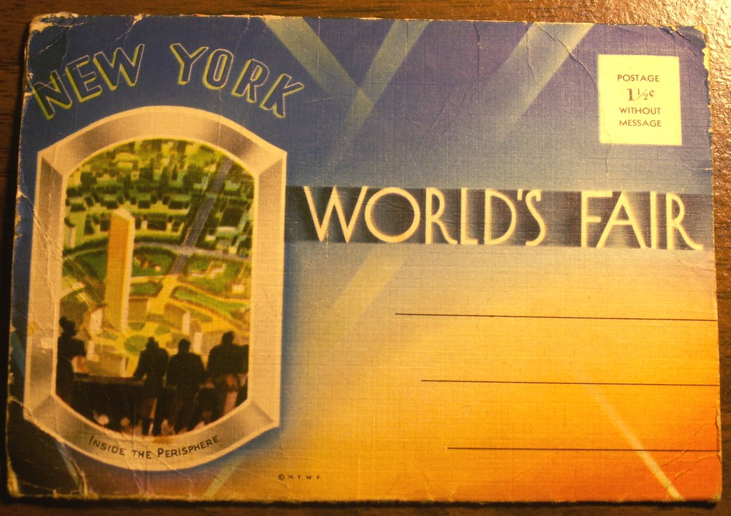 Front Cover, 1939 World's Fair Postcard Booklet