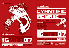 flyer srictly.beats 16.3.07 - by montage sauvage