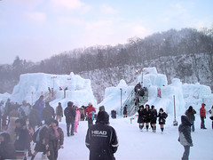 ICE FESTIVAL (4) (o10ko_yama) Tags: winter people lake snow ice festival japan ana hokkaido slide jal chitose shikotsu
