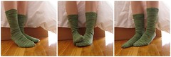 finished green socks