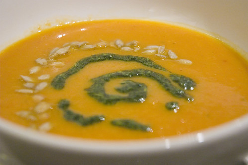 Squash Pepper Soup with Persillade