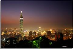 Taipei 101 (HW.Wang) Tags: city sunset sky urban mountain color night canon landscape bravo searchthebest taiwan taipei taipei101 splendiferous magicdonkey 25faves anawesomeshot superaplus aplusphoto superbmasterpiece travelerphotos favemegroup1