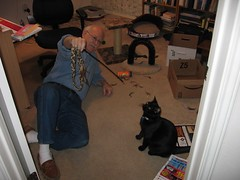 That is the wrong end, Bruce! (judyannash) Tags: bruce scooter teaser jan06