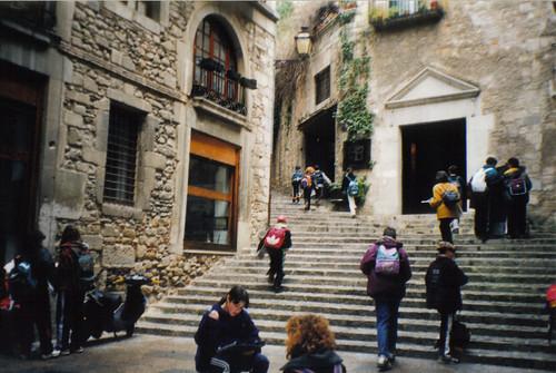 Baños Romanos Girona:Barrio Judío de Gerona, Cataluña, España/Spain – www