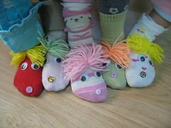 çorap kuklalar